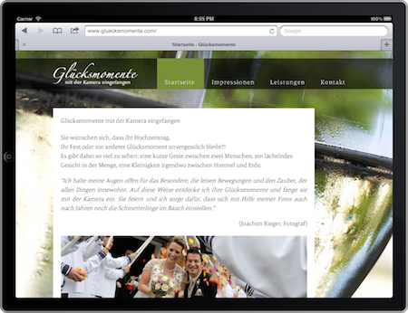 Screenshot von gluecksmomente.com